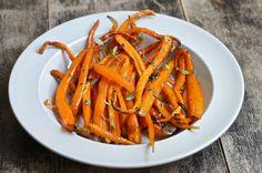 Honey-Whiskey Carrots .