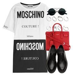 Sin título #12730 by vany-alvarado on Polyvore featuring polyvore fashion style Moschino Dr. Martens Yves Saint Laurent ASOS clothing