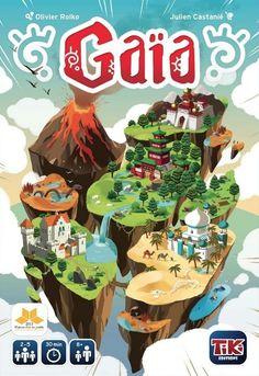 Facile à apprendre, Gaia est un jeu intense où se mélangent placement de tuiles, contrôle de territoires avec une touche de cartes de pouvoirs. - Boutique Randolph