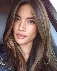 Luscious Balayage With Subtle Purple Tones - 20 Stunning Examples of Mushroom Brown Hair Color - The Trending Hairstyle Brown Hair Balayage, Balayage For Asian Hair, Soft Balayage, Ombre Hair, Light Brown Hair, Medium Brown Hair, Asian Brown Hair, Brown Lob, Brown Straight Hair