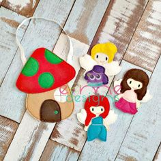 Finger Puppets – Fairies Each set is OOAK yours will vary slightly from the example photo Finished set is $25