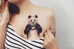 Awesome Panda Tattoo by Anna Yeshova