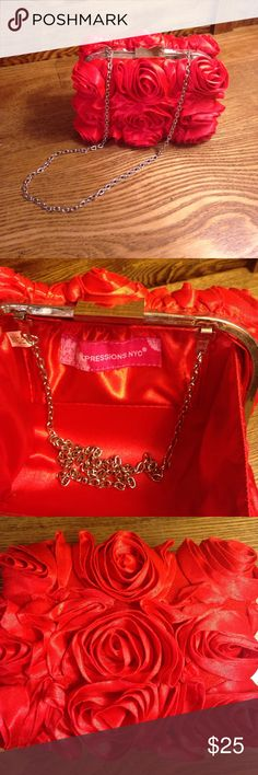 Red Rose Clutch Fabulous red rose clutch! expression NCY Bags Clutches & Wristlets