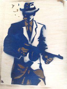 Mafia stencil with 2 layers