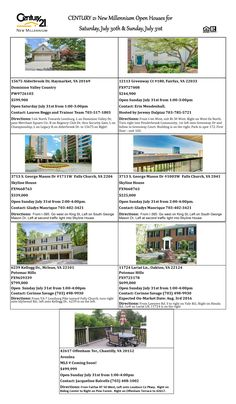 Open Houses for July 30-31, 2016 COME SEE THE BEAUTIFUL HOMES!!