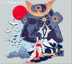 Samurai Wars T-Shirt $11 Star Wars tee at TeeFury today only!