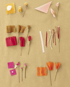 Flores de papel crepom no blog Detalhes Magicos 16