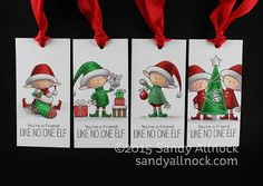 Sandy Allnock 24 Tags Shading Elves in Copic