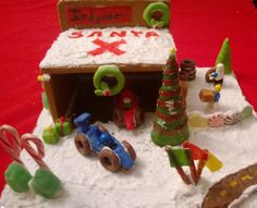 Indycar Gingerbread Garage