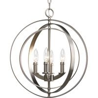 Four-light sphere foyer lantern inspired by ancient astronomy armillary spheres. Interlocking rings pivot for an infinite variety of positions. #lighting