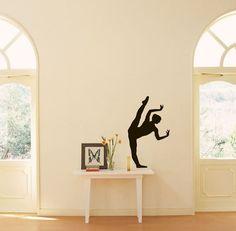 Ballet Dance Studio Ballerina Sports Shapely Dancing Girl Housewares Wall Vinyl Decal Art Design Murals Interior Decor Sticker SV1949