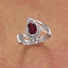 Indian Garnet and Silver Ring...From The Pyramid Collection  :)
