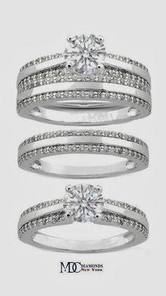 Bridal Set: Engagement Ring & Matching Wedding Ring