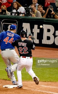 Anthony Rizzo,CHC/Jason Kipnis,CLE//Nov 2,2016 World Series Game 7 at CLE