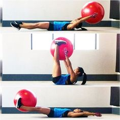 For that little belly pooch...use medicine ball for extra workout