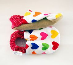 Heart Bison Booties 6 to 12 Months Ready to Ship Baby by bisongirl, $30.00