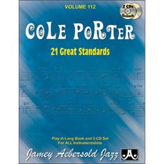 VOLUME 112 - COLE PORTER - 21 GREAT STANDARDS Play, Cover, Books, Libros, Book, Blanket, Book Illustrations, Libri