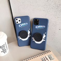 OREO Milk chocolate biscuit soft silicon cover for iphone 11 Pro X XS XR Max Phone Cases Iphone6, Iphone Case Covers, Iphone 4s, Apple Iphone, Cute Cases, Cute Phone Cases, Iphone 8 Plus, Oreo Milk, Pretty Iphone Cases