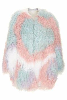 Mongolian fur heart coat