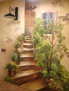 Kitchen/ Diningroom. Custom Hand Painted Wall Murals by Eelna