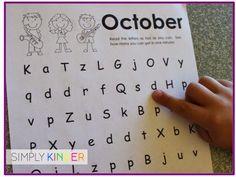 FREE Letter Naming Fluency Printables!!!