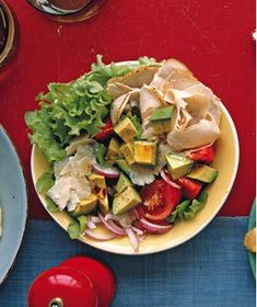 Turkey Salad With Tomato, Avocado, and Parmesan