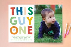 This Guy Kids Party Invitations by Baumbirdy | Minted