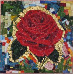Titolo'' La passione'' mosaico in smalti veneziani di Murano,ori di Murano e millefiori di Murano  20x20 anno 2017 n 111