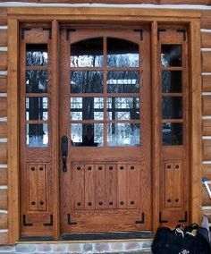 Double entry door with sidelights and Quattro glass Real Work