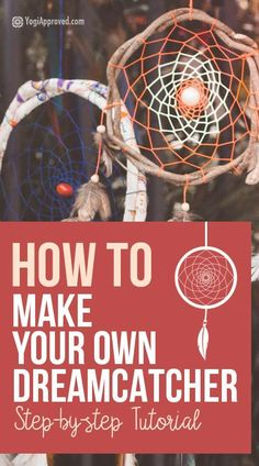 Dreamcatchers are believed to catch bad dreams, allowing the good dreams to get to you. Learn how to make your own DIY dreamcatcher in this photo tutorial. Making Dream Catchers, Dream Catcher Craft, Clay Pot Crafts, Fun Crafts, Shell Crafts, Adult Crafts, Summer Crafts, How To Make Dreamcatchers, Diy Dream Catcher Tutorial