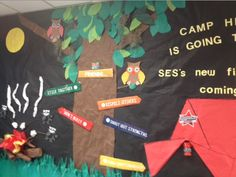 An incredible display from Summerville Elementary for our Camp High Five theme!