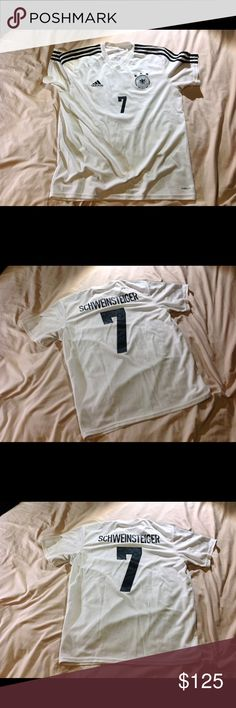 Soccer Jersey German National Team -German National Team World Cup Jersey -Player: Bastian Schweinsteiger -Material: ClimaLite adidas Shirts Tees - Short Sleeve