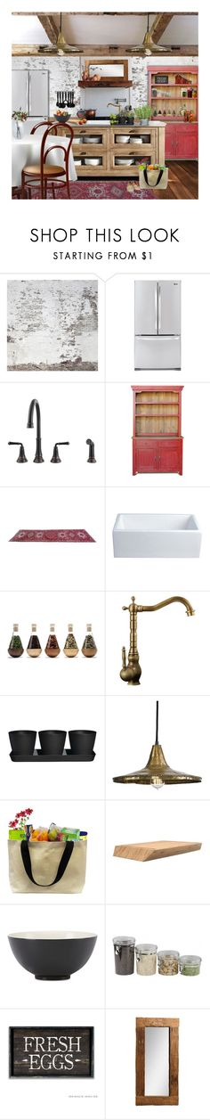 """farm to market"" by tiffanysblues ❤ liked on Polyvore featuring interior, interiors, interior design, home, home decor, interior decorating, LG, American Standard, Room Essentials and Eda"