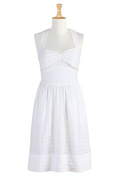 Summer white eyelet sundress