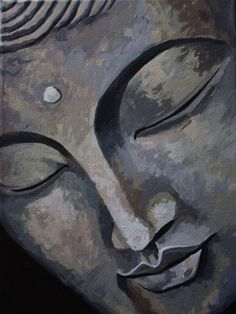 """""""The one who has conquered himself is a far greater hero than he who has defeated a thousand times a thousand men."""" —Gautama Buddha, The Dhammapada . Buddha Face, Buddha Zen, Gautama Buddha, Budha Painting, Painting & Drawing, Buddha Drawing, Art Asiatique, Yoga Art, Zen Art"""