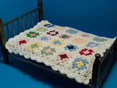 Candyworks44 - quilt made from tiny granny squares.