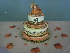 """How about this Fall Baby Shower Cake? by """"Anointed Edibles"""""""