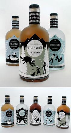 folksaga - Swedish distillery Love the label designs