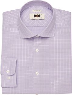 Joseph Abboud Traditional Fit Spread Collar Grid Dress Shirt
