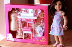 Our Generation 18 inch doll Sewing Set It Seams Perfect - Generation Dress American Girl Doll Sets, American Girl Crafts, American Girl Clothes, American Dolls, Our Generation Doll Accessories, Our Generation Dolls, Og Dolls, Girl Dolls, Baby Dolls