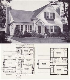 Vintage Home Plans - The Collingwood - Standard Homes Company - Modern American Colonial Style To add a little style to the cottage look! The Plan, How To Plan, Plans Architecture, Architecture Design, Small House Plans, House Floor Plans, Style At Home, Style Blog, Br House
