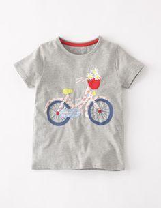Ich habe das auf @BodenDirect entdeckt. Hübsches Patchworkshirt Grau Fahrrad