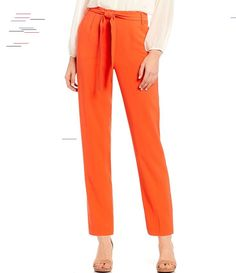 1. STATE Tie Waist Tapered Pant | Dillard's 1. STATE Tie Waist Tapered Pant - Papaya 10 Girls Winter Coats, Cute Leggings, Emo Fashion, Goth Girls, Dillards, Latest Trends, Pajama Pants, Tie, Parenting