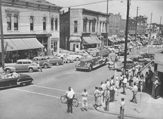 Columbus Indiana Pictures From the 1950's - parade through downtown.