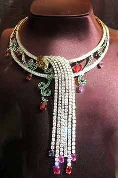 Statement necklace via Diamonds and Rhubarb®.