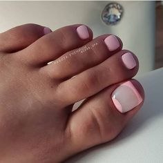 51 Ideas for pink french pedicure toenails simple Toe Nail Color, Toe Nail Art, Toe Nails, Nail Colors, Acrylic Nails, French Pedicure, Pedicure Nail Art, Pedicure Designs, Toe Nail Designs