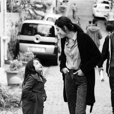 Cansu Dere with Cute Little Star Beren Gokyildiz! #CansuDere #Lovely #PrettyGirl #Cutest #BerenGokyildiz #TurkishActress #TurkishFashion