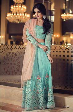 Lehenga Choli- Original Maria B Embroidered Collection 2016, Pakistani, Indian, Bollywood Lehenga Choli by KaamdaniCouture on Etsy