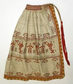 Slovak Apron Date: century Culture: Slovak Medium: cotton, linen Dimensions: [no dimensions available] Credit Line: Gift of Miss Irene Lewisohn and Mrs. Antique Clothing, Historical Clothing, Folk Costume, Costumes, Russian Folk, Ethnic Dress, Aprons Vintage, Traditional Dresses, Girl Fashion