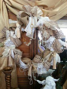 Burlap Victorian wreath